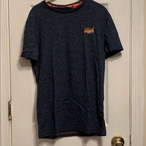 Men's Superdry Navy t-shirt.